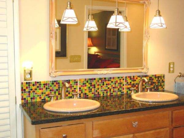 Bathroom Backsplash Ideas in Two