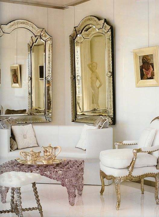 Decorating Walls Ideas With Venetian Mirror