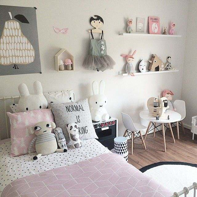 Girls Room Decor Ideas Used the Pink