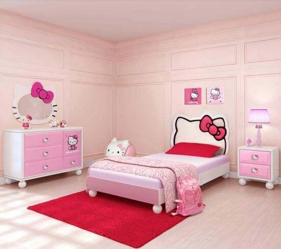 Hello Kitty Bedroom Set for a Cute Looking Bedroom