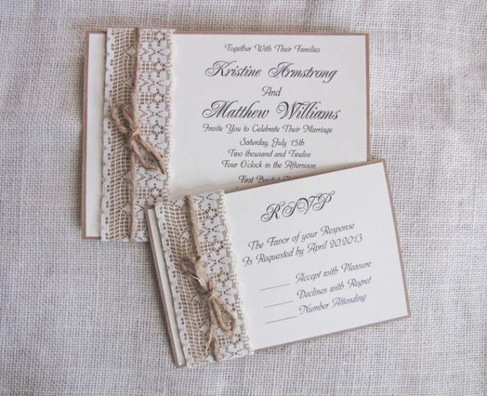 Homemade Wedding Invitation Ideas, Depending On Your Creativity ...