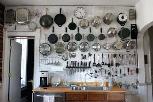 Kitchen Pegboard Hanging Procedures