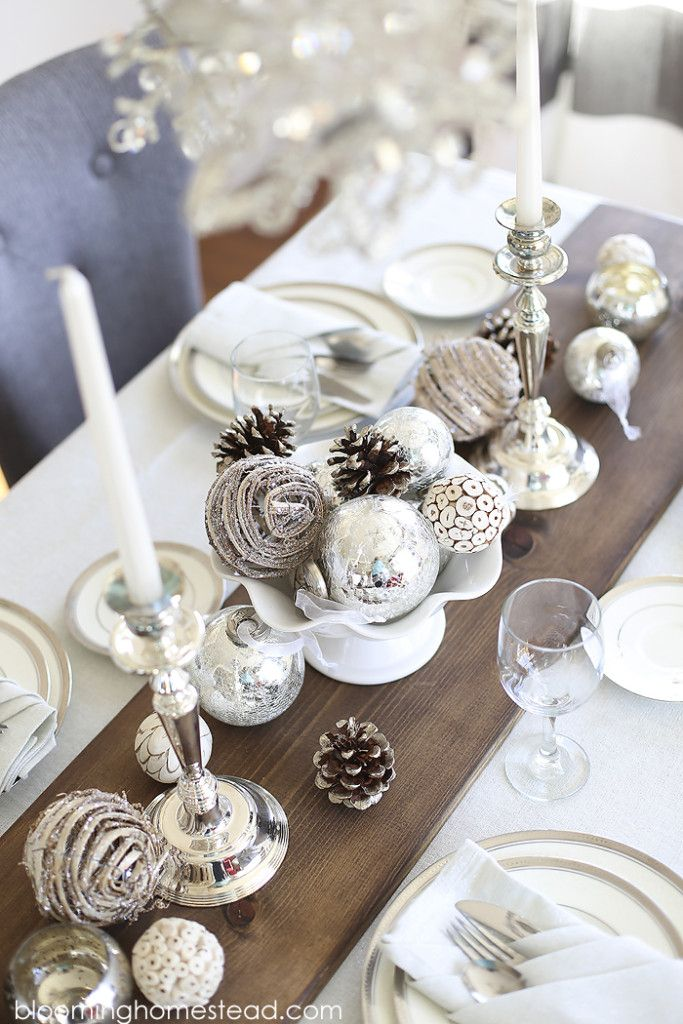 Create Your Own White Winter Tablescape